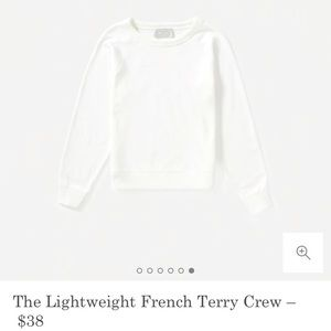 NWT Everlane - lightweight french terry crew